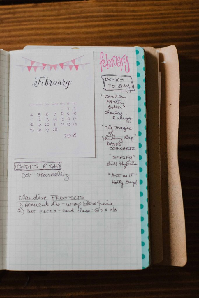 the page layout after the monthly view is used for detailed planning, book list, etc